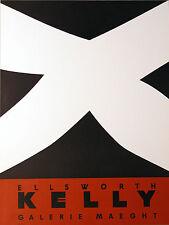 """Ellsworth Kelly """"Noir et rouge"""" Galerie Maeght Poster"""