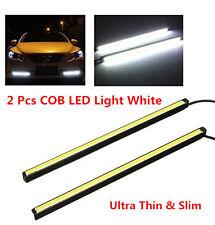 12V DC Universal Car SUV White COB DRL LED Light Daytime Running Light Fog Lamp