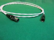 20 Ft Silver Plated Mini Tiny XLR Female to Tiny XLR Male  Audio Balanced Cable.
