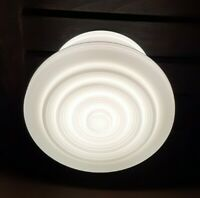 Vtg Art Deco Frosted Milk Glass Shade Ceiling Light Fixture Chandelier