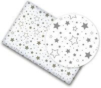 100/% COTTON FITTED SHEET PRINTED DESIGN BABY CRIB 90x40cm Mouse Grey
