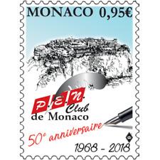 monaco 2018 50 Years P.E.N. Club headquarters London Poets Essayists pen 1v mnh