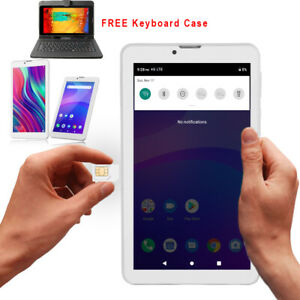 "Ultra Slim 7"" Unlocked 4G Android 9.0 Pie TabletPC SmartPhone Google Certified!"