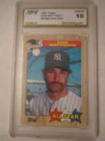1987 DON MATTINGLY ALL STAR ERROR BASEBALL CARD MINT GRADED GEM MT 10 -TUB BBA-8
