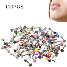 16G Labret Labrets Lip Rings WHOLESALE Lot 100 Bulk Stainless Steel