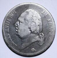 1816 A France Five 5 Francs - Louis XVIII bare head - Lot 243