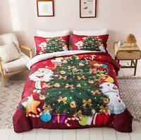 3D Snowman Tree O427 Christmas Quilt Duvet Cover Xmas Bed Pillowcases Fay
