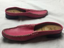 Renë By Ara Real Moccasins Pink Mules Slides Shoes Womens Size 7 4.5 UK Germany