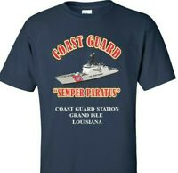 COAST GUARD STATION GRAND ISLE - LOUISIANA *COAST GUARD VINYL PRINT SHIRT/SWEAT