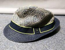 f5299cd19a2342 Ted Baker Boys Beige And Blue Summer Hat  V