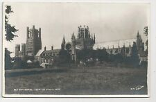 Old Postcard, Walter Scott, K71, Ely Cathedral From The Deans Park, Posted 1960s