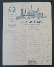 Facture 1902 ORNEMENTS ARCHITECTURALE CROUZET TOULOUSE belle entête illustrée 25