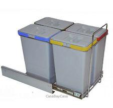Bidone spazzatura sotto lavello cucina estraibile differenziata 4 secchi 8L EC ì