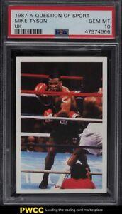 1987 A Question Of Sport UK Mike Tyson ROOKIE RC #224 PSA 10 GEM MINT