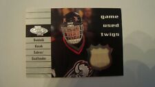 2000 01 Upper Deck Heroes T-DH Dominik Hasek Game Used Twigs Buffalo Sabres