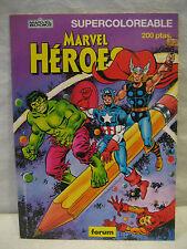 1980s Marvel Forum Comics AVENGERS foreign coloring book Spain HULK Iron Man