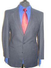 LUXURY MEN  BERWIN  NAVY BLUE CHALK STRIPE  SUIT 40S (50S EUR) W32 x L29