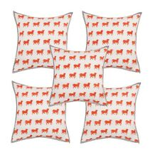 5 PC Digital Print Cow Theme Cotton Pillow Case Sofa Decor Cushion Cover