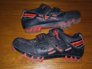 Specialized Comp cycling biking Shoes 38EU / 6 US Unisex black/red  610 1538