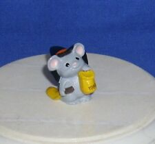 "Hallmark Halloween Merry Miniatures Mouse Witch with Broom 1989 1"" Gold Seal"