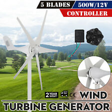 500W 12V Wind Turbine Generator W/Controller Charge Controller Ac Pmg 3 Phase