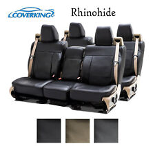 Coverking Custom Seat Covers Rhinohide Front and Second Row - 3 Color Options