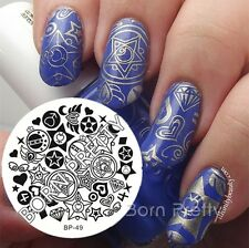 Nagel Schablone BORN PRETTY 49 Nail Art Stamp Stamping Template Plates