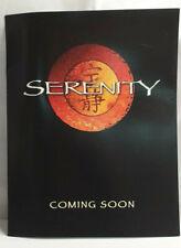 Original SERENITY (Firefly Film) Movie Memorabilia PROMOTIONAL BROCHURE A4-Sized