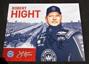 2016 Robert Hight Auto Club Funny Car NHRA Autographed HANDOUT / POSTCARD