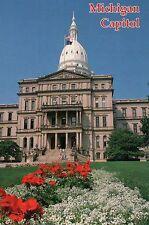 Stato Capitol Lansing Michigan, Ponte, 1879, Bandiera Americana & Giardino mi -
