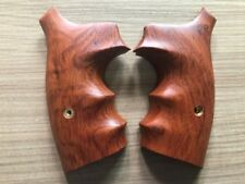 New Smooth Hard wood grips for S&W K/L Frame Square Butt, Thai handmade
