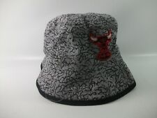 "Windy City Chicago Bulls NBA Patch Bucket Hat Gray New Era Large 24"" Cap"