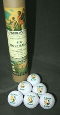 SET OF 6 ST. ANDREWS CREST GOLF BALLS IN PACKAGE MADE IN THE U.K.