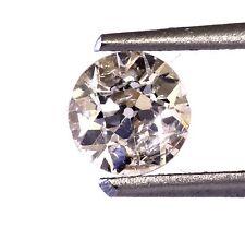 loose round European cut estate diamond .63ct SI3 O-P yellow brown 5.40x3.42mm
