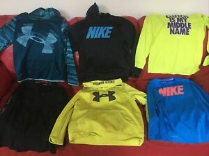 Under Armour Nike Hoodies Shirts Lot Size Youth Large Ylg