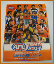 2014 AFL TEAMCOACH COMPLETE SET OF 198 COMMON CARDS + ALBUM - RRP $49.95 NEW