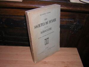 1921.sociétés de pensée & démocratie.Cochin.envoi autographe. 18e