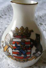 Goss  1890   Brugge   Crested   China   Model   Of  Vase  Dug  Up  Near  Swindon