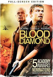 Blood Diamond (DVD Full Frame) MOVIE DICAPRIO CONNELLY HOUNSOU SIERRA LEONE