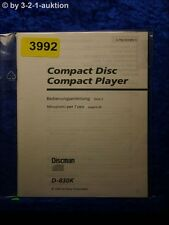 Sony manuale d'uso d 830k CD Player (#3992)