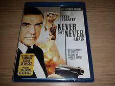 Never Say Never Again (Blu-ray Disc, 2009) RARE OOP USA version BRAND NEW