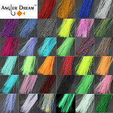 34 bags Fly Tying Material Crystal Flash Holographic Fishing Lure Tying Making