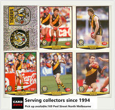 POPULAR-1997 Select AFL Collectable Stickers Base Team Set Richmond (14)