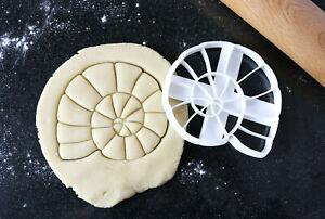 Ammonite cookie cutter, Fossil cookie cutter, Fondant cutter