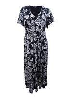 INC International Concepts Women's Plus Flutter-Sleeve Maxi Dress