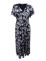 INC International Concepts Women's Plus Flutter-Sleeve Maxi Dress
