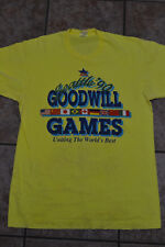 Vintage Men's L Goodwill Games 1990 Seattle Fruit Loom tag 100% Shirt Tee Rare