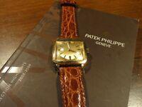 PATEK PHILIPPE~REF. 2514/1 18K YELLOW GOLD SQUARE MEN'S MANUEL WATCH 1953~ESTATE