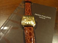 PATEK PHILIPPE~REF. 2514/1 18K YELLOW GOLD SQUARE MEN'S MANUEL WATCH 1953~ESTATE