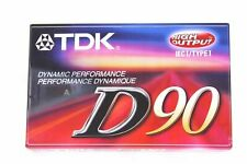 5 TDK Sa-90 High Bias 90 Minute Audio Cassette Tapes With Case
